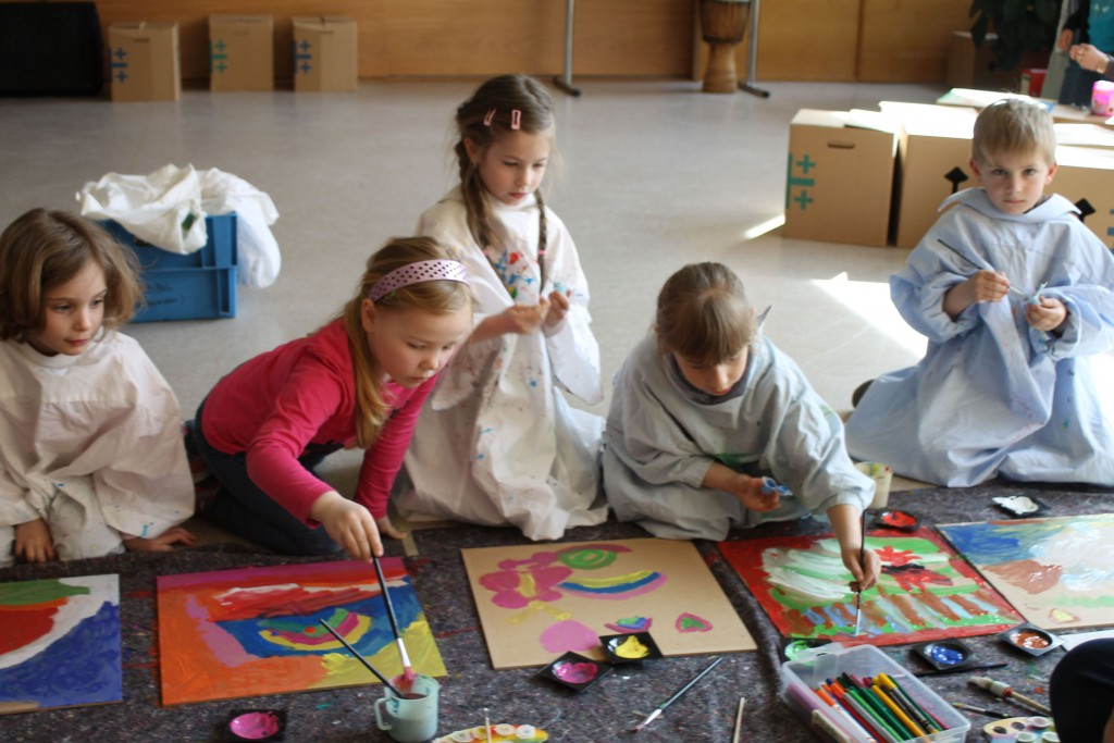 KiBiWo2016- die Kleinen malen Schilder